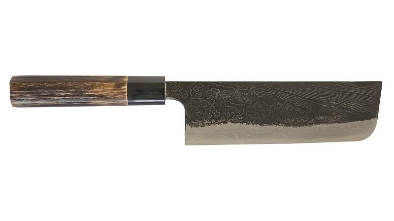 Nakiri - Damastmesser der Messerschmiede Tsukasa aus Echigo in Japan